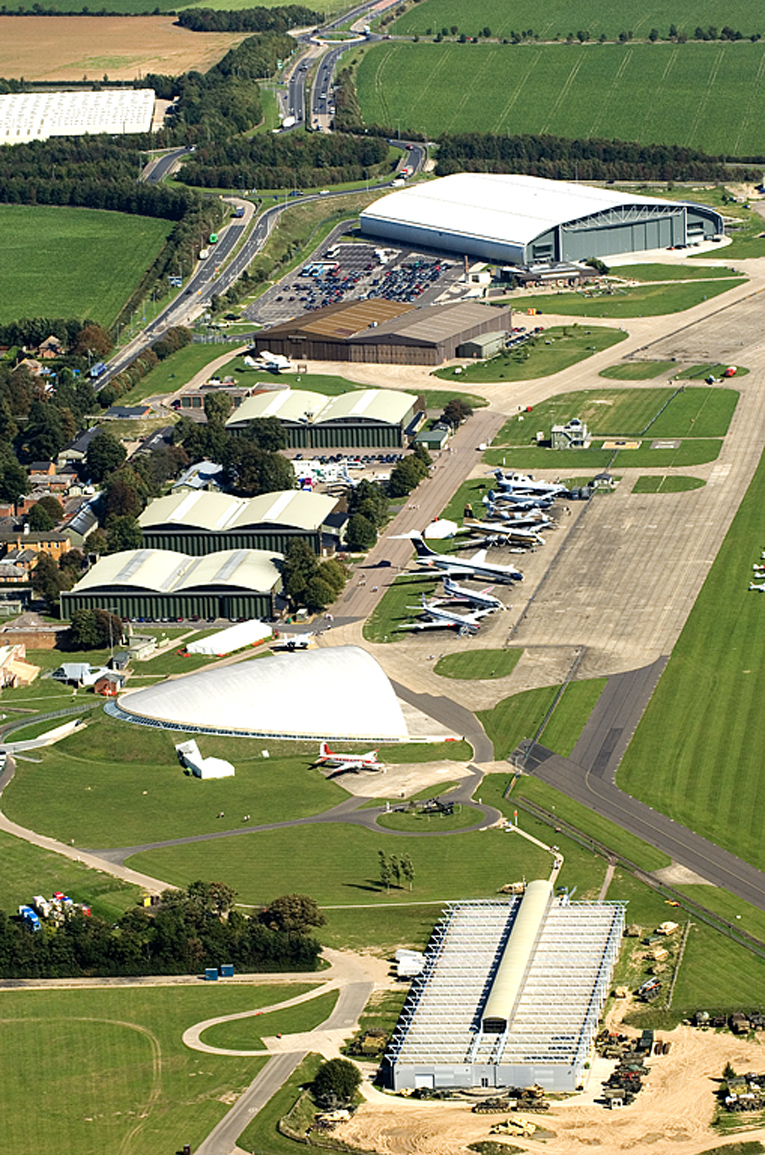 Aerial view of Duxford